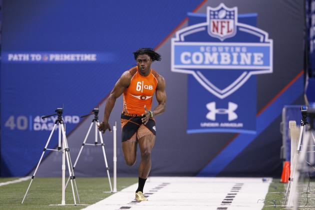 NFL Combine 2012 Results: RG3's Impressive Combine Will Lead to Draft Day Trade