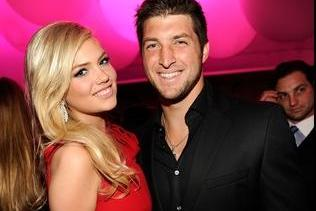 Tim Tebow Spotted with SI Cover Girl Kate Upton at the Vanity Fair Oscar Party