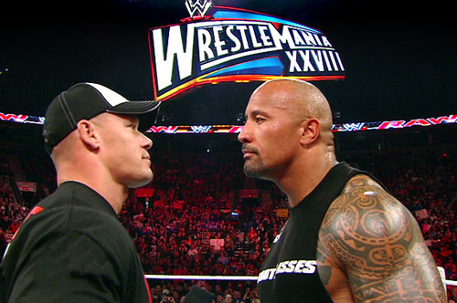 WrestleMania 28: John Cena Is Owning the Rock on the Mic
