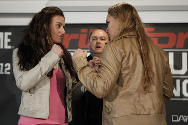 Ronda Rousey and Meisha Tate Verbally Attack Each Other at Strikeforce Presser