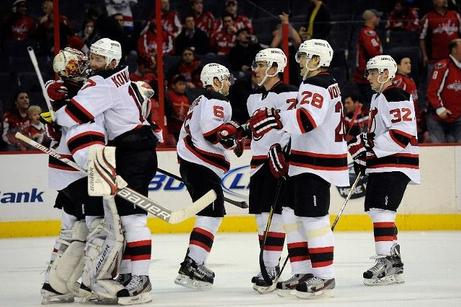 Parise's Hat Trick and Moose's Shutout Move Devils Deeper into the Playoffs