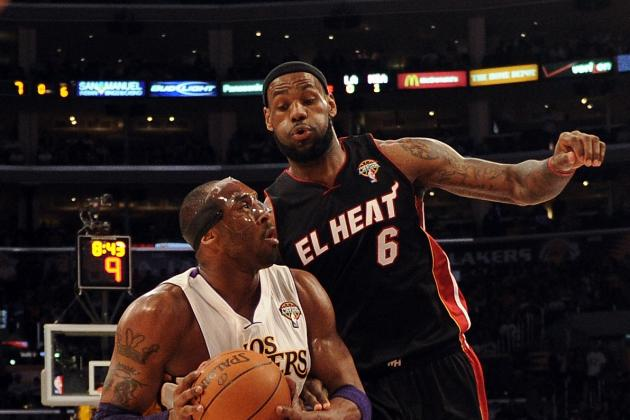 LA Lakers vs. Miami Heat: Kobe Bryant Outshines LeBron James and Dwyane Wade