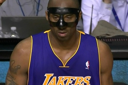 Lakers vs. Pistons: Kobe Bryant Takes off Black Mask Because of Discomfort
