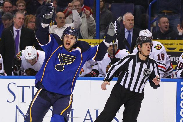 St. Louis Blues Cruise, Detroit Red Wings Lose: Blues Control Western Conference
