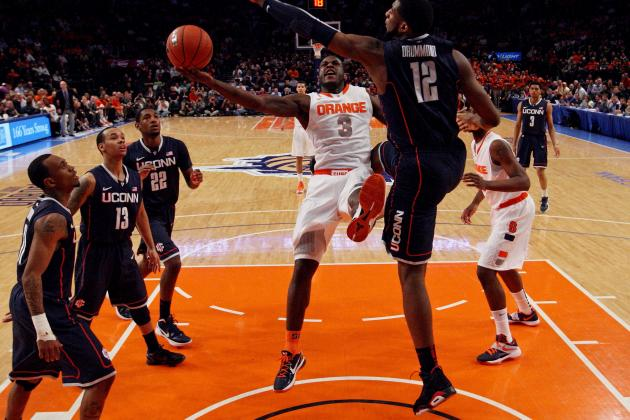Big East Tournament 2012: Syracuse Orange Survive Scare from Surging Huskies