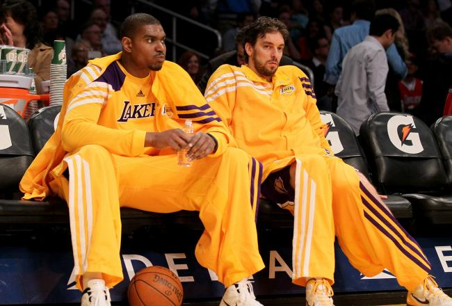 Pau Gasol and Andrew Bynum are a formidable front court duo.
