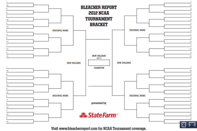 Printable NCAA Bracket 2012: Brackets You Can Print