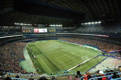 Toronto FC vs. LA Galaxy Drew Capacity Crowd at Toronto Rogers Centre