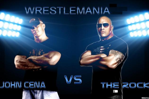 WWE Wrestlemania Celebrations: John Cena vs the Rock—What