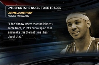 Carmelo Anthony Clears the Air about His So-Called 'Trade Demand'