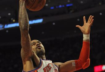 Tyson Chandler leads the Knicks with seven rebounds.
