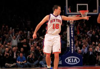 Steve Novak has knocked down some three pointers as the Knicks have built a big lead.