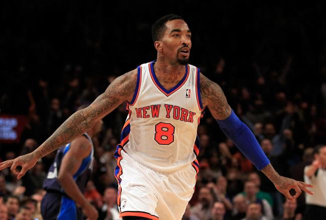 J.R. Smith and the Knicks are flying high tonight.