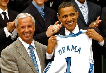 If President Obama's bracket gets it right, the UNC Tar Heels out of the Midwest Region will once again win it all.