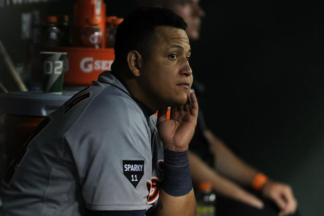 Detroit Tigers Spring Training: Miguel Cabrera Eaten by Own Sunglasses?