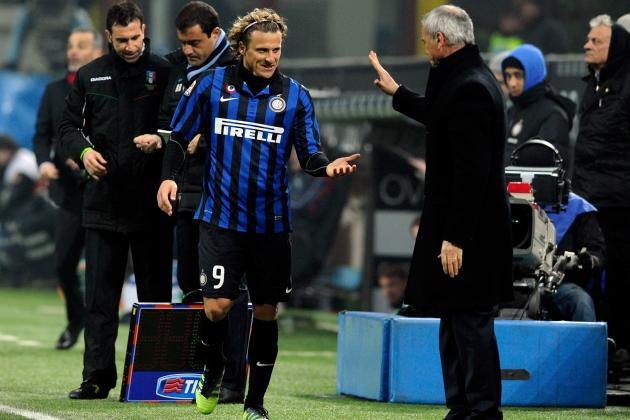 Inter Milan: Diego Forlan and Claudio Ranieri Situation Makes Ugly Season Uglier