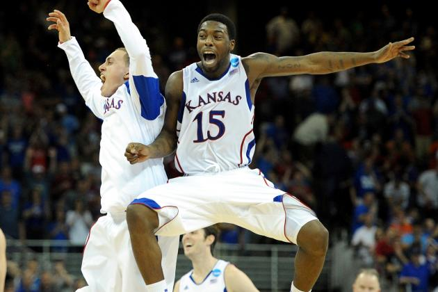 NCAA Tournament 2012: Elijah Johnson, Kansas Jayhawks Survive Test from Purdue