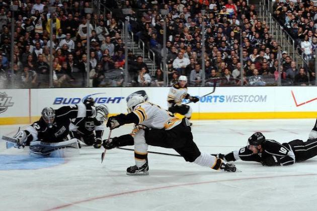 8 Games Remaining: Boston Bruins Dethrone LA Kings 4-2