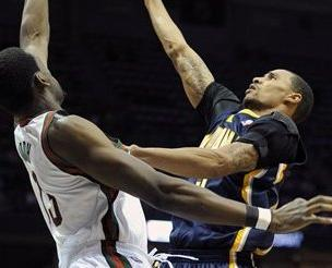 George Hill's 24 Points Leads the Pacers Past the Bucks 125-104