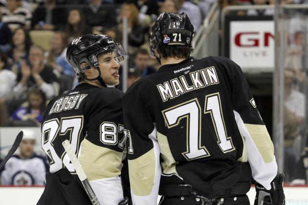 Sidney Crosby and Evgeni Malkin Each 3 Points Shy of Milestones Versus Islanders