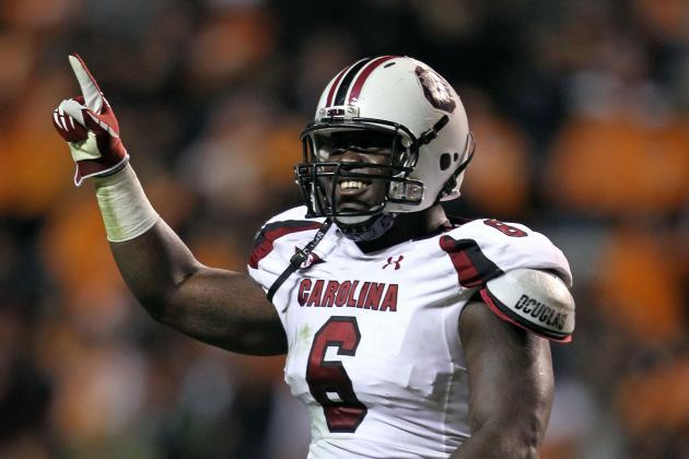 2012 NFL Draft News: NY Jets Watching Melvin Ingram at South Carolina Pro Day