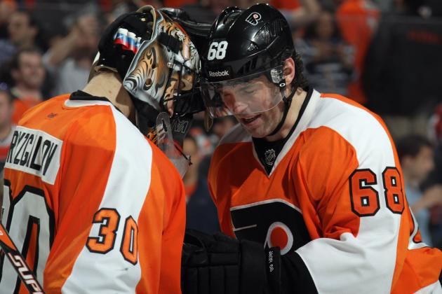 Philadelphia Flyers Winger Jaromir Jagr Nominated for Masterton Memorial Trophy