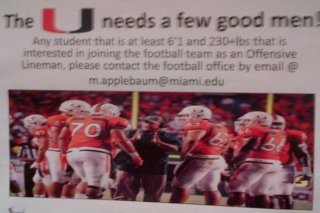 Miami Football Help Wanted: We Generate Ads for Others in the Spirit of the 'U'