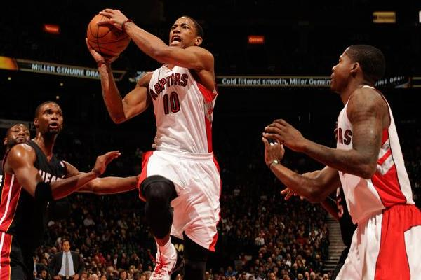 Toronto Raptors DeMar DeRozan Breaking Out; 28 Points Versus Miami Heat Show Why