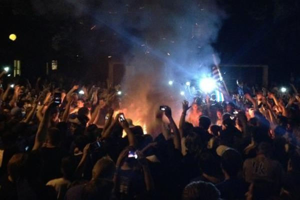 Kentucky Wildcats: Images of Lexington Riot After Final Four Win over Louisville