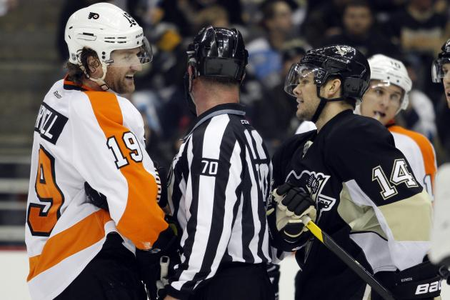 Philadelphia Flyers Fight Pittsburgh Penguins: What Caused the Line Brawl?