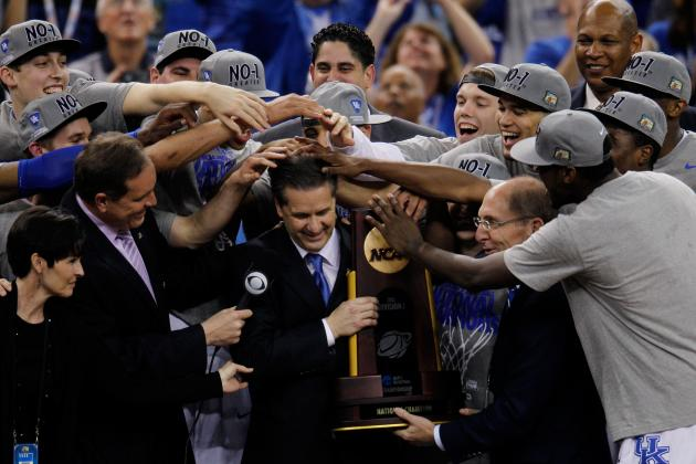 NCAA Bracket 2012: Kentucky Holds off Kansas to Win National Championship No. 8