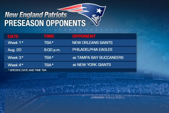 Patriots 2012 Preseason Schedule: How New England Got Shafted by the NFL