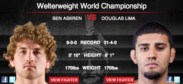 Bellator 64: Askren vs Lima Live Results and Play by Play