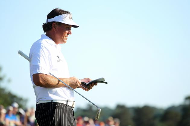 Masters Leaderboard 2012: Phil Mickelson in Perfect Position to Win at Augusta