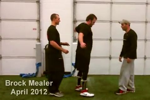 Michigan Football Video: Brock Mealer Learns to Walk Without Canes