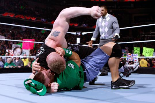 WWE Raw: Brock Lesnar Bloodies John Cena, Jericho's Games Continue and More