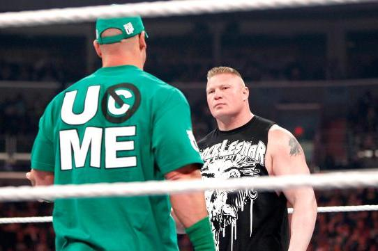 WWE Raw Deal April 9: Brock Lesnar Bloodies John Cena