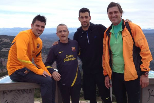 FC Barcelona's David Villa Climbs a Mountain as He Nears a Return to Action
