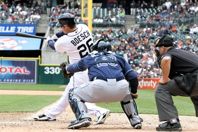Brennan Boesch Catches Fire with Multiple RBI Knocks:  Tigers Defeat Rays, 7-2