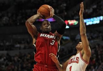 Dwayne Wade is off to a fast start with 6 early points.