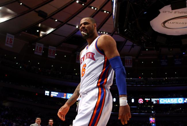 Tyson Chandler had to take an early seat with foul trouble.