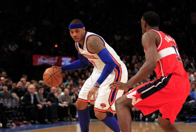 Carmelo Anthony didn't have enough gas in the tank to finish the fourth quarter strong today.
