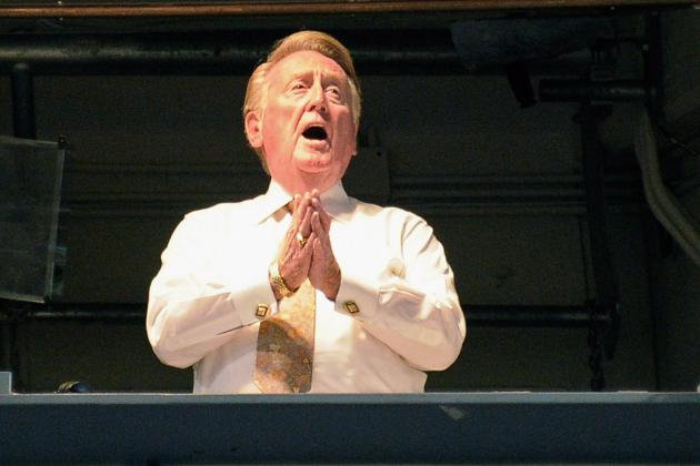 Vin Scully, 84, Back in Dodgers Booth After Illness