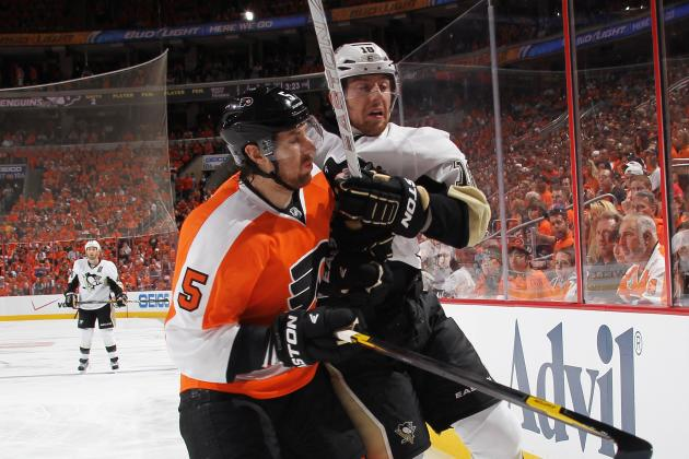 NHL Playoffs 2012: James Neal Cheap-Shots Sean Couturier and Claude Giroux