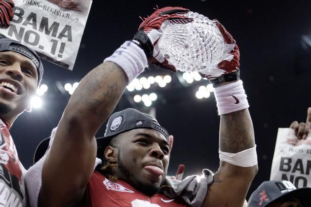 Alabama Football: Surprised That Crystal Trophies Don't Break More Often