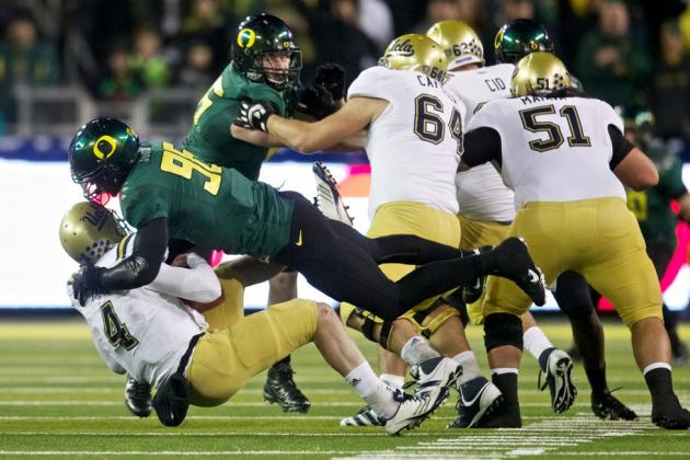 Oregon Ducks Spring Report: Oregon Coach Compares Dion Jordan to Terrell Suggs