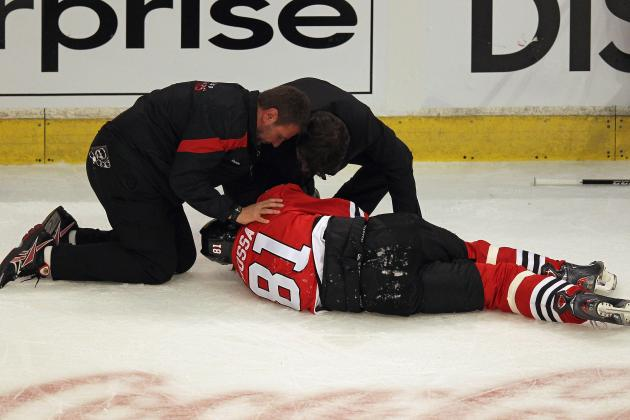 Marian Hossa Injury: Blackhawks Winger Lucky to Avoid Major Injury