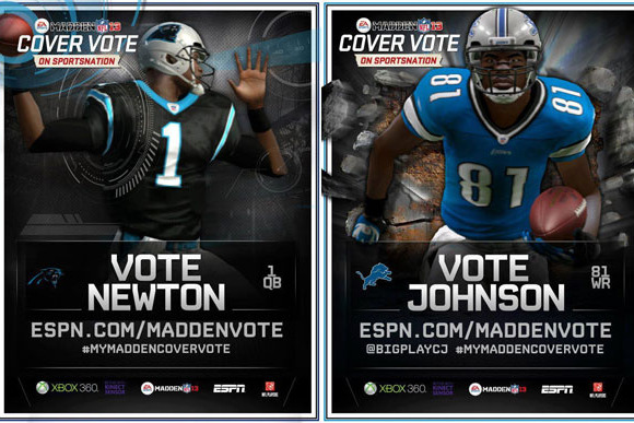 Madden 2013: EA Can't Lose in Cam Newton vs. Calvin Johnson Cover Battle