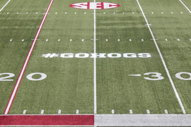 Arkansas Football: Razorbacks to Paint Twitter Hashtag on Field for Spring Game