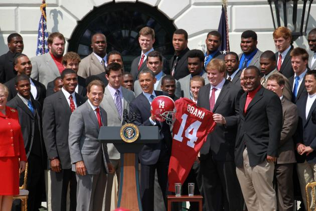Alabama Football: 2011 Alabama Championship Team Visits the White House
